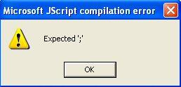 JScript Compilation Error